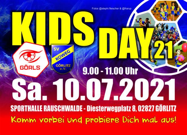 KIDS DAY 21 – am 10. Juli 2021 von 9:00 bis 11:00 Uhr